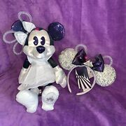 Nwt Disney Minnie Mouse Main Attraction Space Mountain Ears And Plush Set