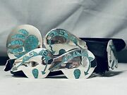 Authentic Tommy Jackson Navajo Turquoise Sterling Silver Concho Belt