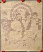Beatles Very Rare Original Psychedelic 1967 Poster All You Need Is Love