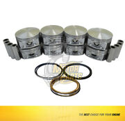 Pistons And Rings Set Fits Chrysler Durango Ram 1500 2500 3500 Jeep 5.7l - 040