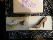 Lot Of 4 Raine Just The Right Shoe Miniature Shoes
