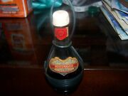 Vintage Chianti Mini Empty Wine Bottle Glass W/wire Cover Made In Italy