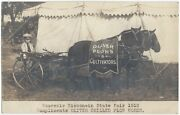 1910 Oliver Farming Plow Advertising Real Photo Horse Drawn Wisconsin Postcard
