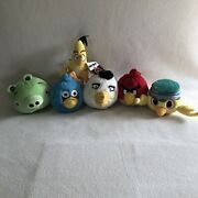 Angry Birds Plush Blue Jay Neutral Pig Matilda Chuck Red And Nico Mixed Lot 6