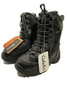 Cabelas Womens Inferno 2000 Pac Boots Black Mid Calf Lace Up 6 D