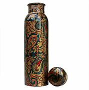 Pure Copper Printed Bottle For Yoga Ayurveda Health Benefits 950ml Usa Seller