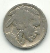 A Nice Vintage 1919 P Buffalo Nickel Coin-old Us Coin-may113