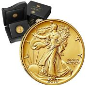 2016-w Walking Liberty Half Dollar Centennial Gold Coin 99.99 Pure W/ Coa Andogp