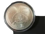 1975 Canada Rcm 10 Dollar Silver 1976 Montreal Olympic Games Silver Coin