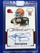2014 Flawless Rookie Autograph Auto Ruby Red Inscriptions Johnny Manziel 03/15