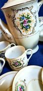 Vintage Nm 14pc Marked Occupied Japan Teapot Cups Saucers Flower Pattern Coffee