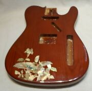 Trans Brown Guitar Body W/ Parrot And Flowers Inlay For Fender Telecaster
