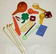 Tupperware Gadgets Tea Spoons Funnel Clover Cookie Cutter And More Lot Of 17