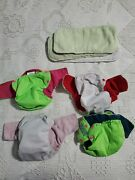 4 Size Medium Cloth Diapers Green Acre Brand 3 Pockets With Inserts 1 Aio All In