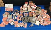 Huge Lot Vintage Briggs And Stratton Small Engine Parts Lot Head Gaskets Pistons +