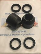 Vintage Husqvarna Silver Fork 250 360 400 450 Betor 35mm Wipers And Seals New