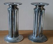 Vintage Pair Of Silver Plate Swid Powell Candlesticks By Robert A.m. Stern
