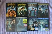 All 8 Harry Potter Movies 1 - 6 On Dvd And 7 - 8 On Blu Ray
