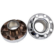 2pc For Ford F350 Super Duty Dually Front 4x4 Chrome Wheel Center Hub Caps 05-18