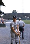 Mickey Mantle 1961 Original Photo Color Negative 35mm Yankees Crystal Clear