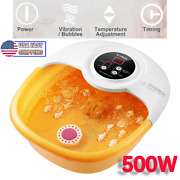 500w Motor Foot Spa Foot Bath Massager With Heat Bubbles Vibration And Auto Shut
