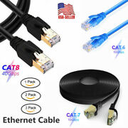 Ethernet Cable Cat6 Cat7 Cat8 High Speed Lan Patch Shielded Cord Wire 350ft Lot