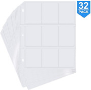 288 Pockets Trading Card Storage Album Pages Card Collector Coin Holders Wallets