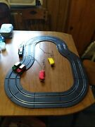 Slot Car Track With 2 Cars And A Set Of Six Battery Powered Street Lights