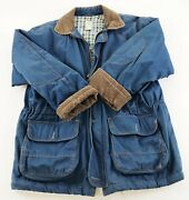 Gh Bass Jacket Men's Small Outdoor Gear Navy Blue Canvas Quilted Coat Fishing