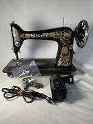 Antique Singer Sewing Machine Head Model 15 Red Eye G0081179 For Parts