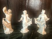 Art Nouveau Three Graces Figurines In Porcelain By Muller Volkstedt