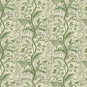 Fabric - Brunschwig And Fils - Bird And Thistle Print - Green