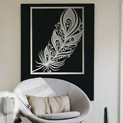 0127 Metal Peacock Feather Hanging Modern Contemporary Steel Wall Art Decoration