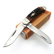 Rough Rider Sowbelly Trapper Pocket Knife Stainless Steel Blade Stag Bone Handle