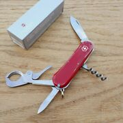 Victorinox Swiss Army Cigar 36 Pocket Knife Stainless Steel Blade Red Handle