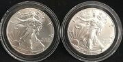 2 2019 Silver Eagles From A Newly Opened Roll Of 20beautiful Coins