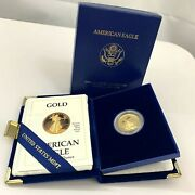 1988 -p American Gold Eagle Proof 1/4 Oz 10 Gold Coin