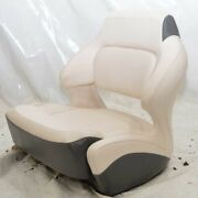 Chaparral Boat Extra Wide Helm Seat W/ Bolster Off White Charcoal Gray