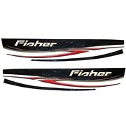Tracker 135738 Fisher Logo 116 Inch Graphic Boat Decal Set- Black