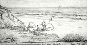 20 Off Indiana Drawing Charles Conner And039ballona Beachand039 1889 3.25 X 6.25