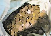 8 Pounds Of Circulated Wheat Pennies 1909-1958 Only Missing 1922 And 1932