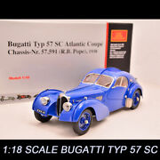 Cmc M083 118 Scale Bugatti Typ 57 Sc Atlantic Coupe 1938 Diecast Car Collection