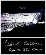 Michael Collins Signed 20 X 16 Photo Of The Moon