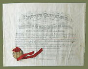 Grover Cleveland / Signed Governmental Appointment Document Partially 1896