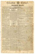 George Washington Death 1800 Newspaper Columbian