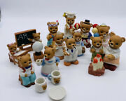 Lot 15 Vintage Homco Bears Assorted Campfire School Clown Thanksgiving Retired