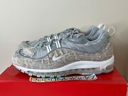 Nike Air Max 98 Supreme Snakeskin Sail White Silver Mens Sizes 844694 100