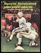 Garo Yepremian Signed Sports Illustrated 1/3/72 No Label Dolphins Autograph Jsa