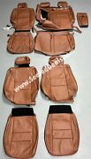 Jeep Grand Cherokee Limited Overland Custom Mahogany Leather Seat Replace Covers