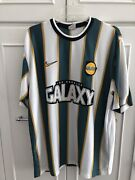 Rare Vintage Nike La Galaxy Soccer Jersey Knit Usa Large 97/98 Los Angeles